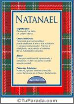 Origen y significado de Natanael