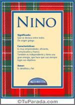 Nombre Nino