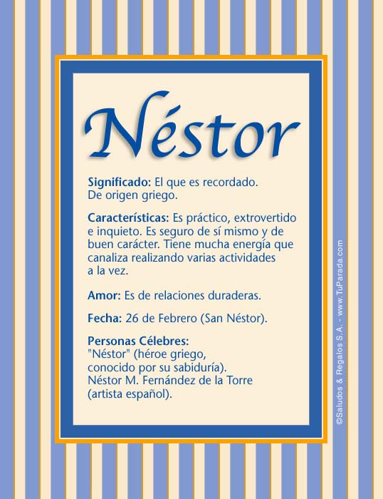 Néstor, imagen de Néstor
