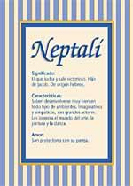 Nombre Neptalí