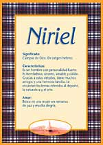 Nombre Niriel