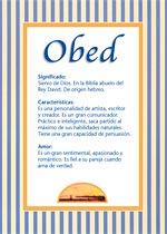 Origen y significado de Obed