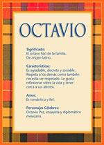Origen y significado de Octavio