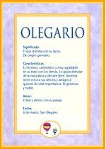 Nombre Olegario