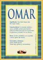 Origen y significado de Omar