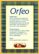 Nombre Orfeo