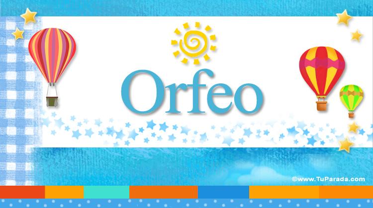 Orfeo, imagen de Orfeo