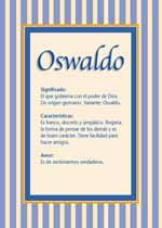 Origen y significado de Oswaldo