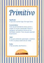 Nombre Primitivo