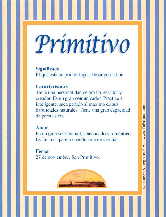 Primitivo, imagen de Primitivo