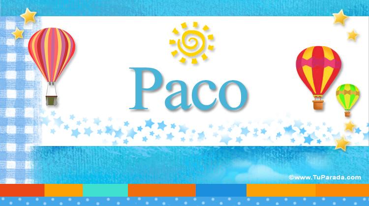 Paco, imagen de Paco
