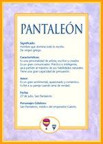 Origen y significado de Pantaleón