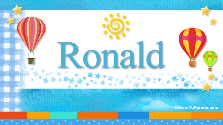 Ronald, imagen de Ronald