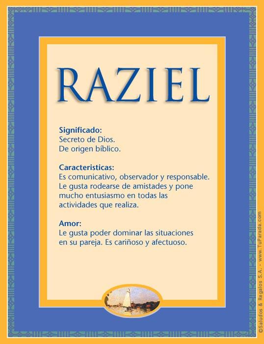 Raziel, imagen de Raziel