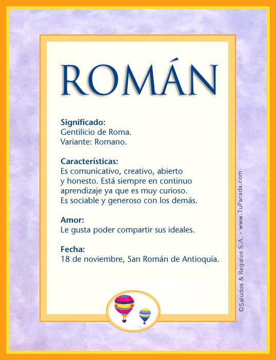 Román, imagen de Román