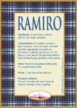 Origen y significado de Ramiro