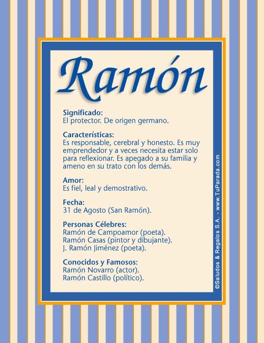Ramón, imagen de Ramón