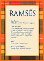 Nombre Ramsés