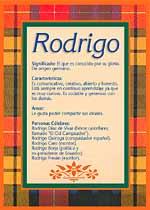 Nombre Rodrigo