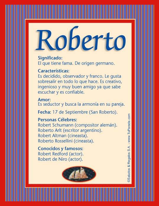 Roberto, imagen de Roberto