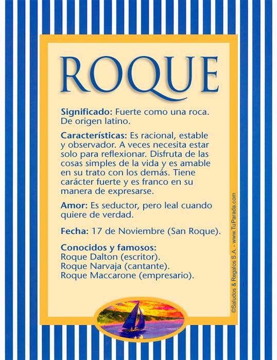Roque, imagen de Roque