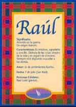 Origen y significado de Raúl