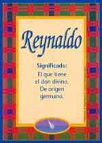 Nombre Reynaldo