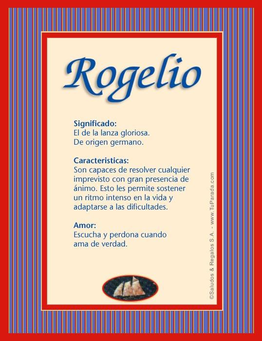 Rogelio, imagen de Rogelio