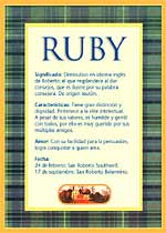 Ruby Significado Del Nombre Ruby Nombres