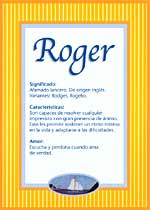 Nombre Roger