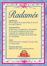Nombre Radamés