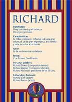 Origen y significado de Richard