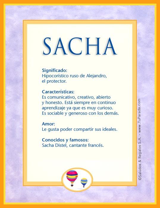 Sacha, imagen de Sacha