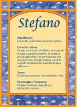 Nombre Stefano