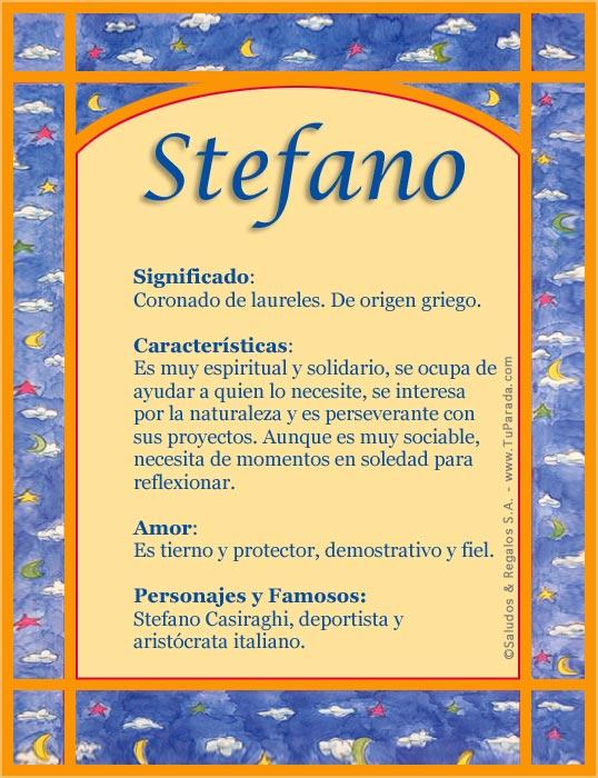 Stefano, imagen de Stefano