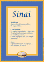Origen y significado de Sinai