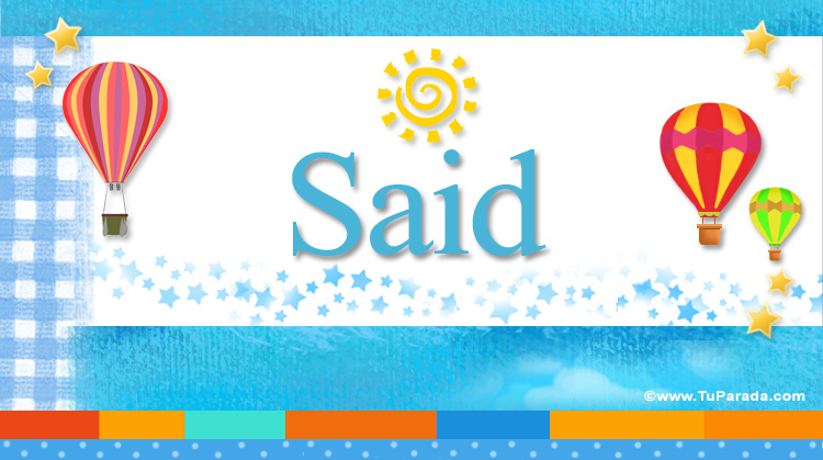 Said, imagen de Said