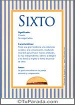 Nombre Sixto