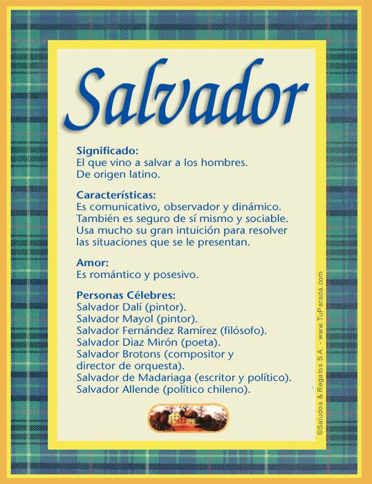Salvador, imagen de Salvador