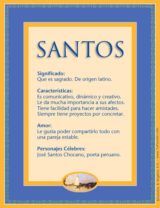 Santos, imagen de Santos