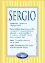 Nombre Sergio