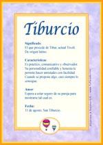 Nombre Tiburcio