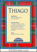 Origen y significado de Thiago