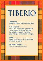 Nombre Tiberio