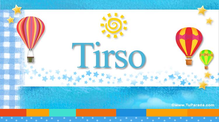 Tirso, imagen de Tirso