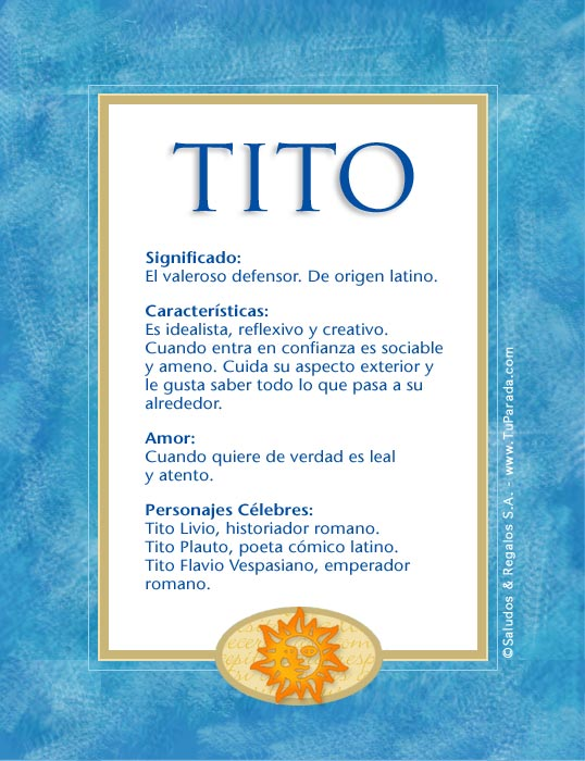 Tito, imagen de Tito