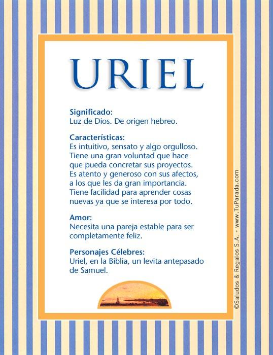 Uriel, imagen de Uriel