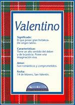 Origen y significado de Valentino