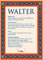 Nombre Walter