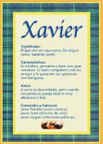 Nombre Xavier